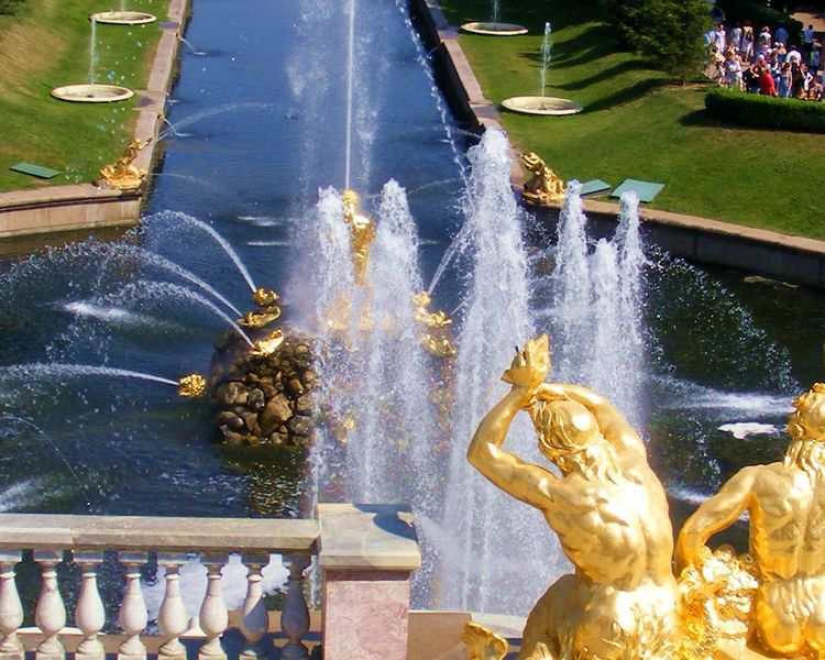 петергоф, фонтаны