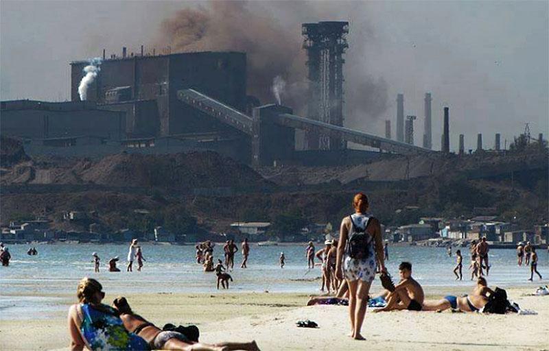 Промышленные выбросы с Донбасса