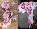 Берет и шарф в технике фриформ. Совсем не осеннее настроение