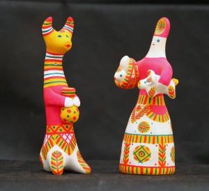 Фото филимовских игрушек из Одоева Тульской области