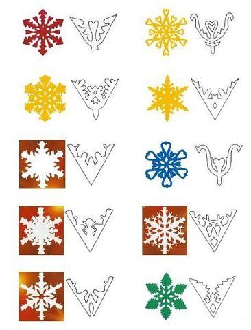 Множество схем необычных шикарных снежинок !