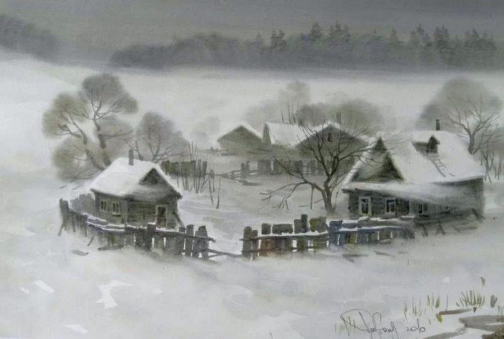 Акварельные пейзажи художника Ильи Горгоца, фото № 28