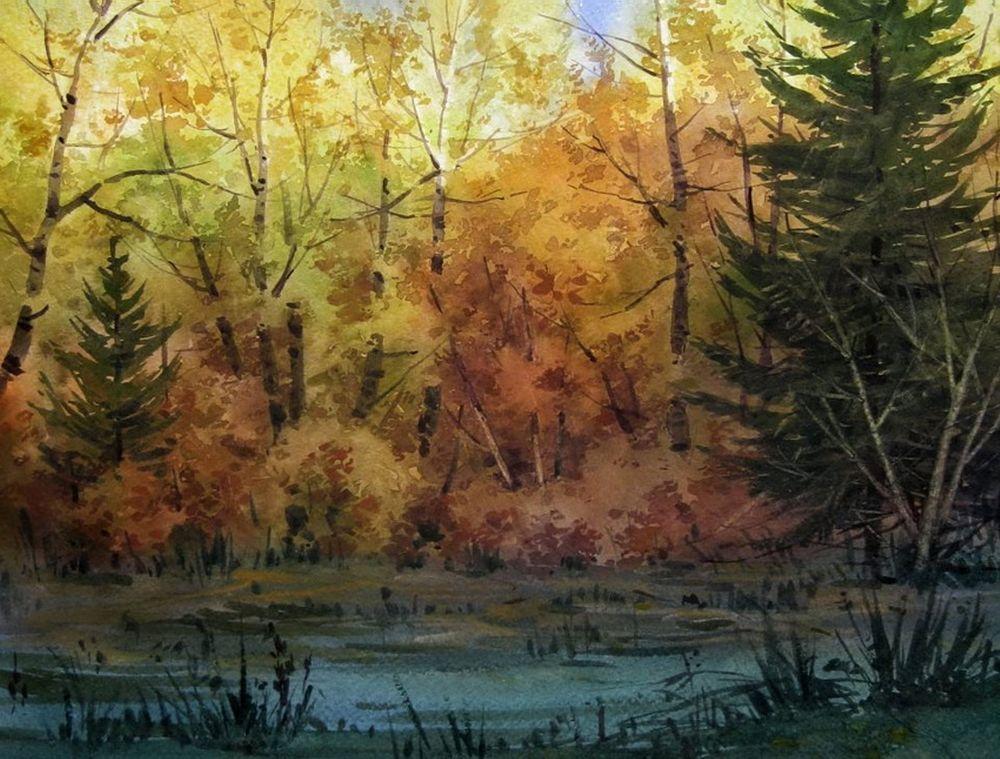 Акварельные пейзажи художника Ильи Горгоца, фото № 3
