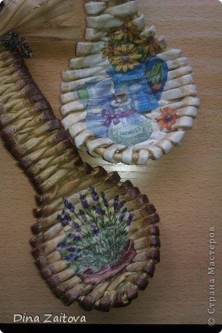 Плетение из газет. Декоративные ложки для украшения кухни (21) (320x480, 90Kb)