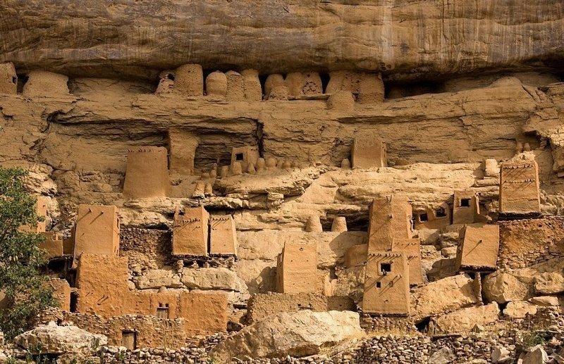 5. Деревня на обрыве Бандиагара, Мали архитектура, африка, интересно, как живут люди, племена Африки, фото