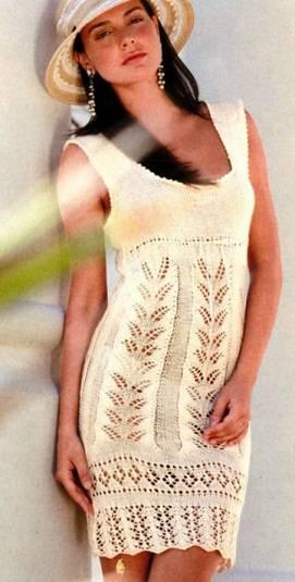 Вязаные платья и сарафаны - спицы