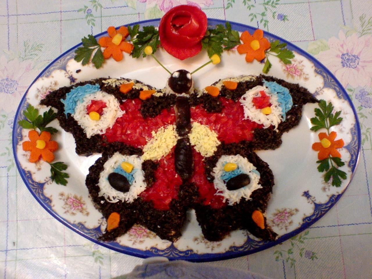 Сделать простые салаты на день рождения с