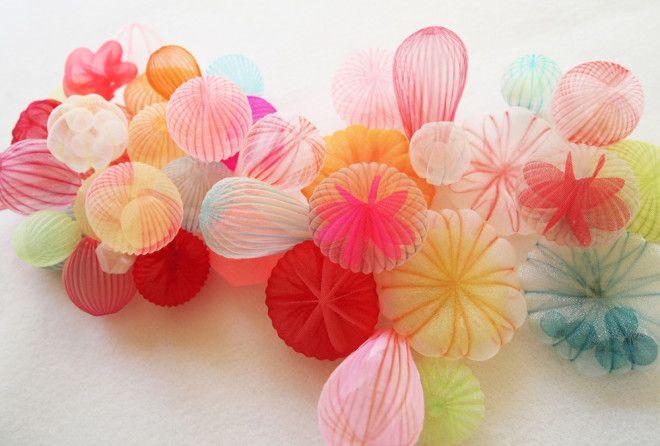 Японская художница создаёт восхитительные скульптуры и украшения из ткани