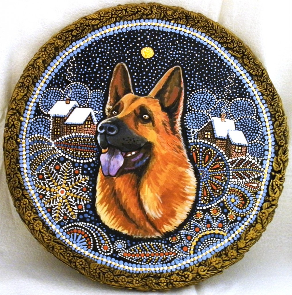 Год Собаки, немецкая овчарка