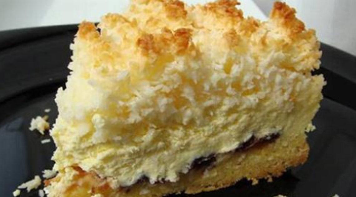 Рецепт приготовления необычного пирога «Кудряшкин» с нежной творожной начинкой