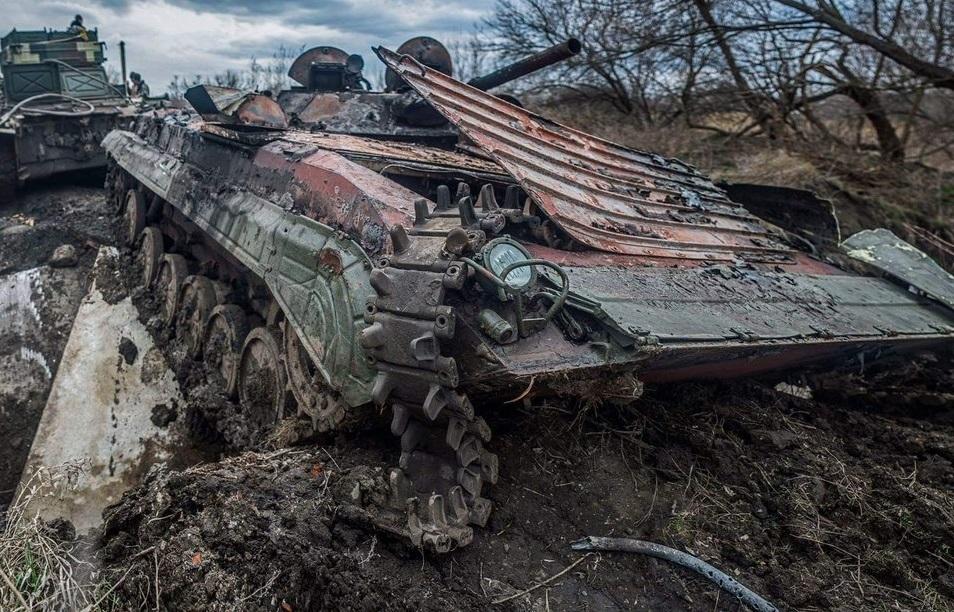 Уничтоженная БРМ-1К в районе Авдеевки