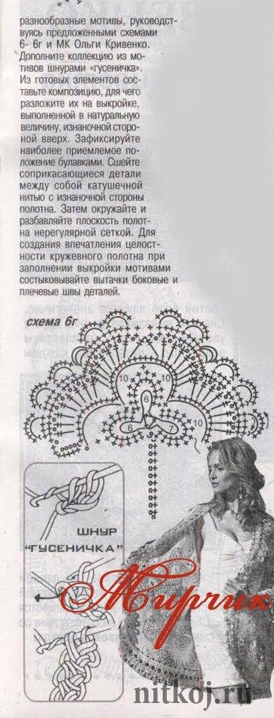 Жакет в технике гипюрного кружева