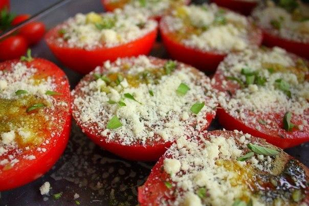 Запеченные томаты с сыром