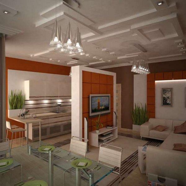 кухня студия фото дизайн в квартире фото