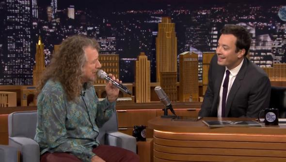 Watch Robert Plant Sing Doo-Wop With Jimmy Fallon and an iPad