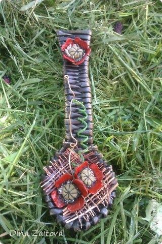 Плетение из газет. Декоративные ложки для украшения кухни (23) (320x480, 147Kb)