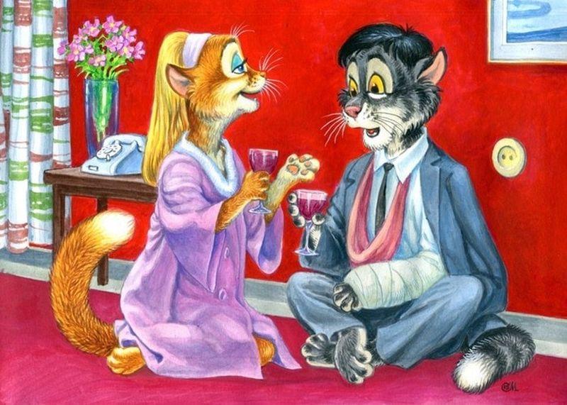 «Бриллиантовой руки» до «Криминального чтива»: художник заменил актеров милыми котами