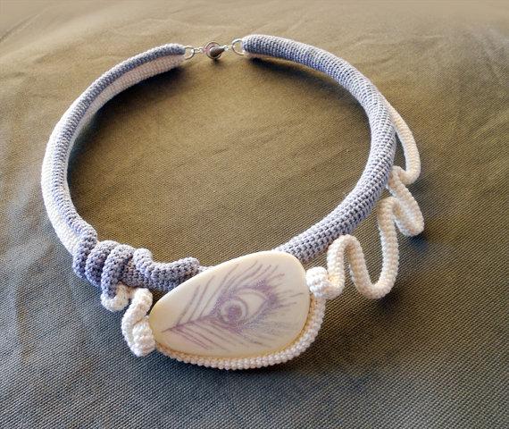 Украшения из вязанных шнуров