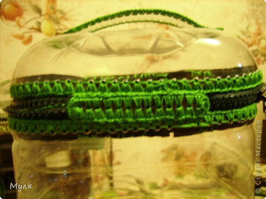 Мастер-класс, Вязание крючком, : Контейнер для мелочей и косметичка. Нитки . Фото 10
