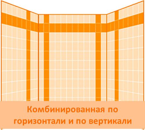 Комбинирование плитки по горизонтали и вертикали