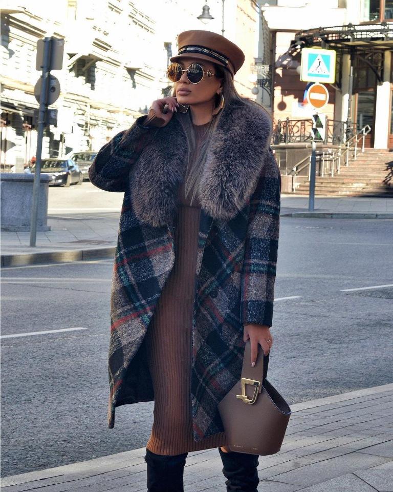Модная зима 2019 – подборка образов с пальто разной степени утепленности