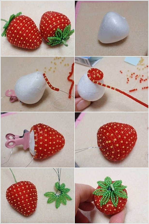DIY bead strawberry02