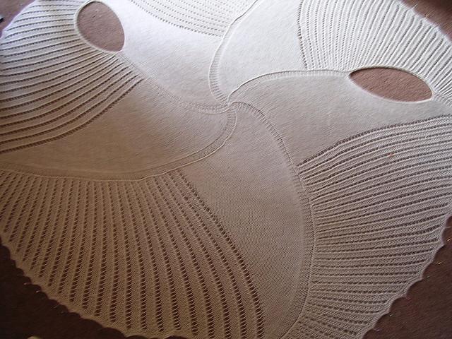 Модель пятиконечной шали: шаль-жакет своими руками