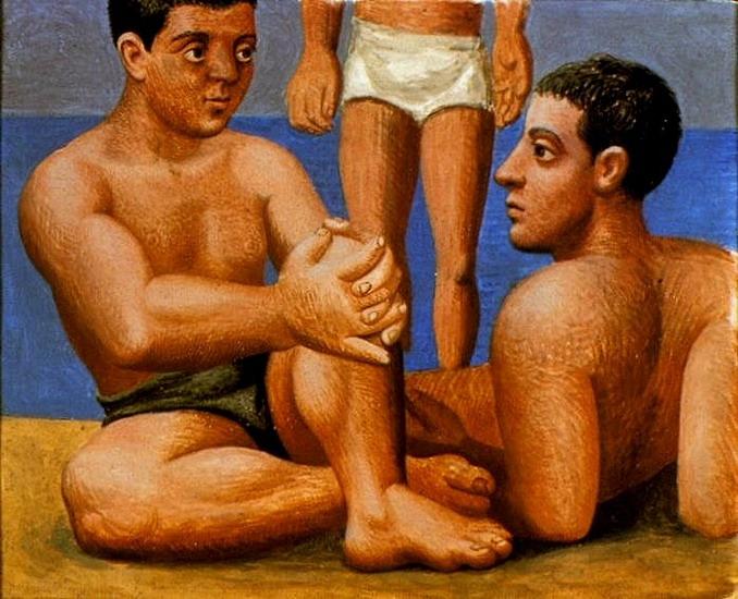 Пабло Пикассо. Два купальщика 1. 1921 год