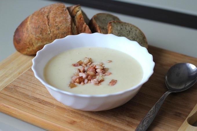 Сливочный суп с запеченным картофелем