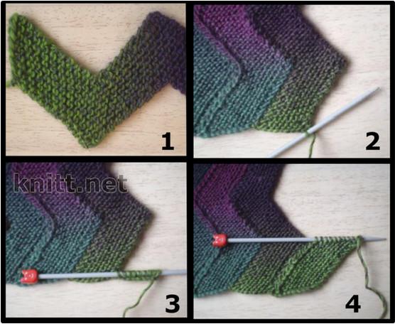 Одеяло «Зиг-Заг» из 10 петел…