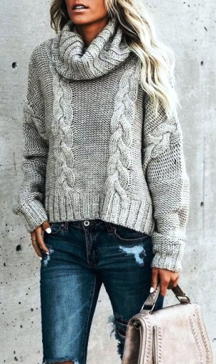 Модный свитер 2018 — как и с чем носить водолазку