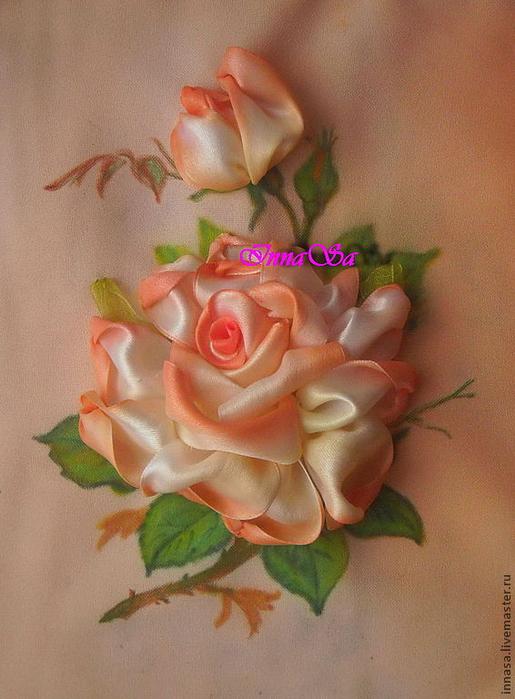 СТЕЖОК, ЕЩЁ СТЕЖОК. Как вышивать атласными лентами розы