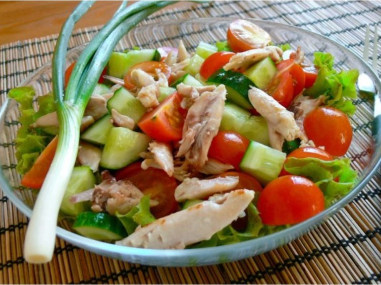 рецепты диетических салатов без майонеза с фото