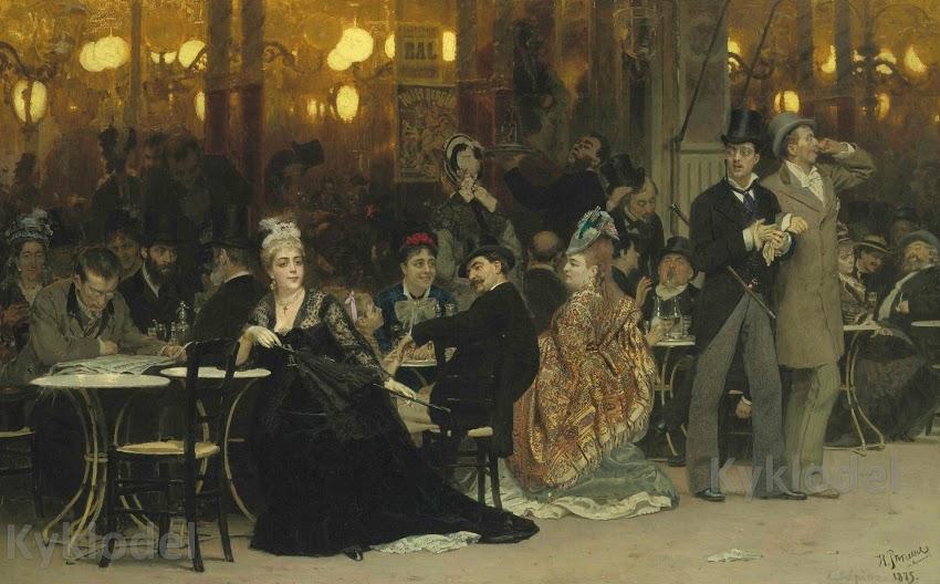 Самая дорогая картина И. Репина — «Парижское кафе». Тайны, факты, история полотна.