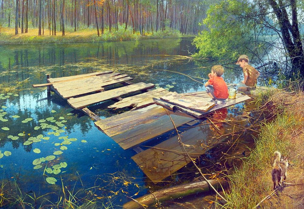 Жизнь деревни, художник Юрий Клапоух