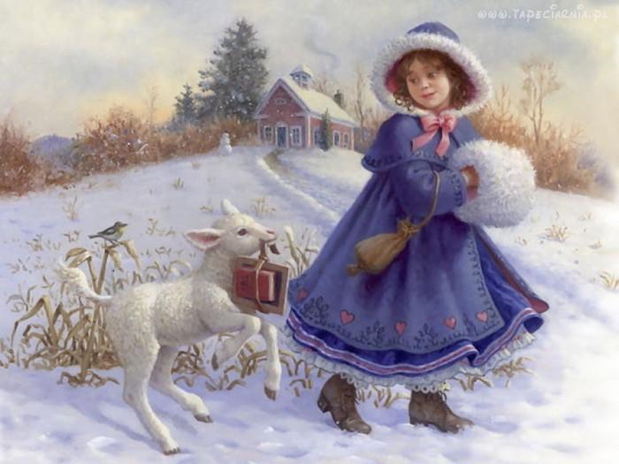 96913_dziewczynka_owieczka_dom_snieg_donald_zolan (700x525, 80Kb)