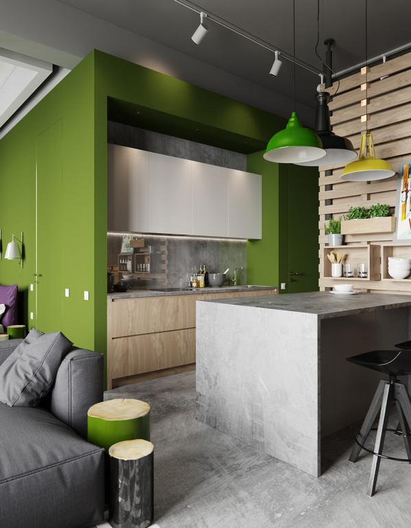 кухня в квартире студии интерьер