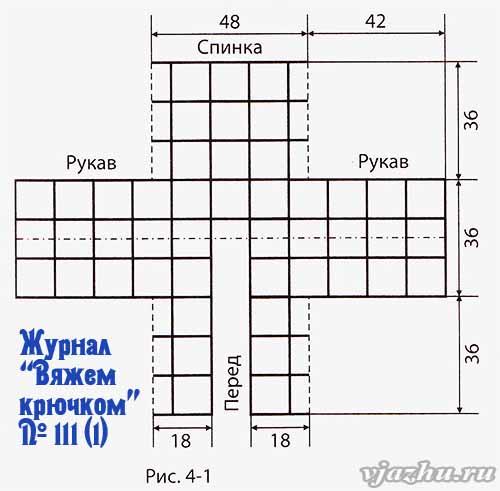 Кофта из квадратов
