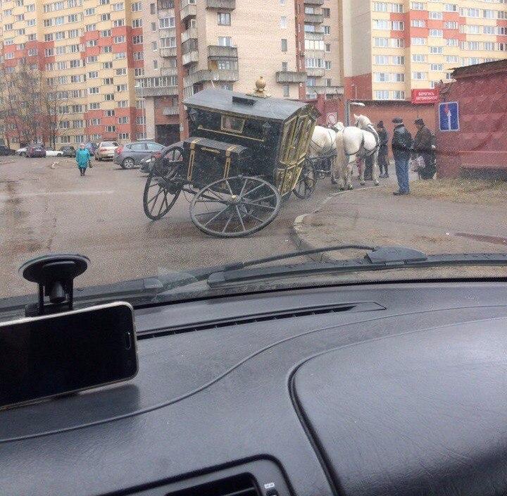 Типичная авария в Санкт-Петербурге.
