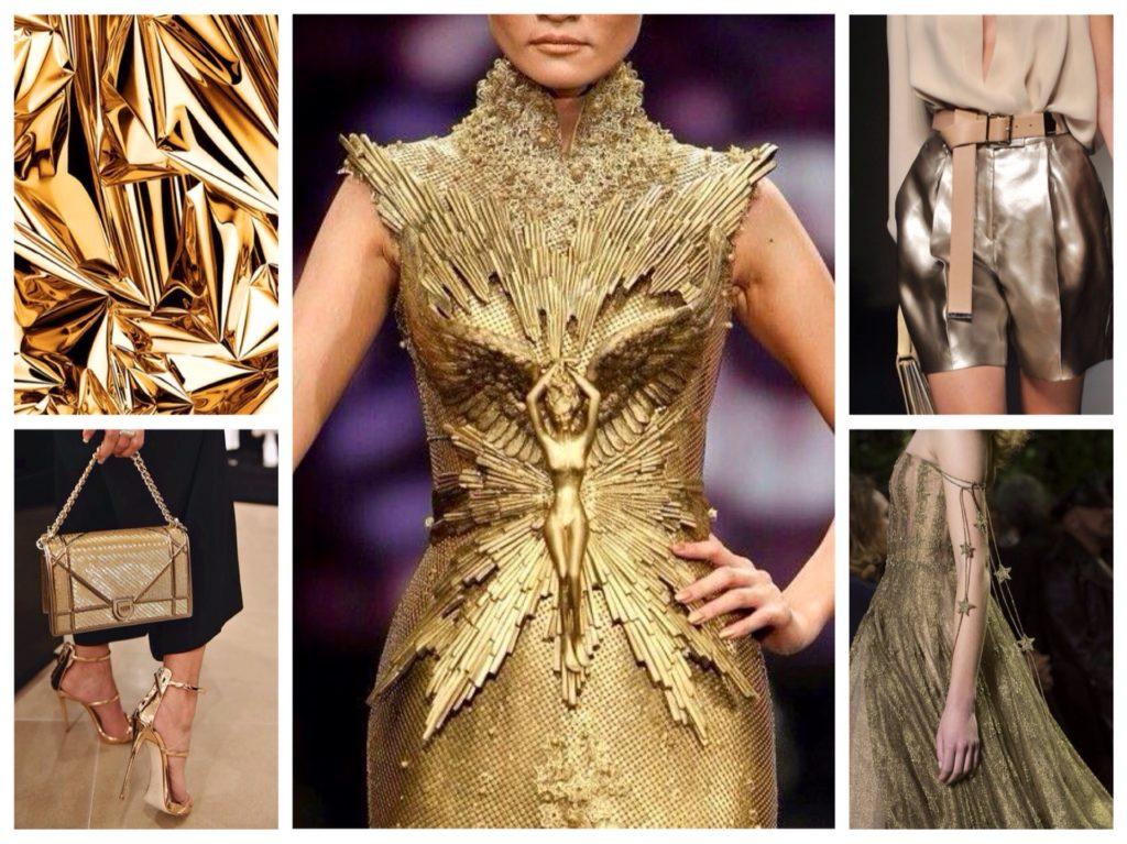 Золотой цвет в одежде — основные сочетания
