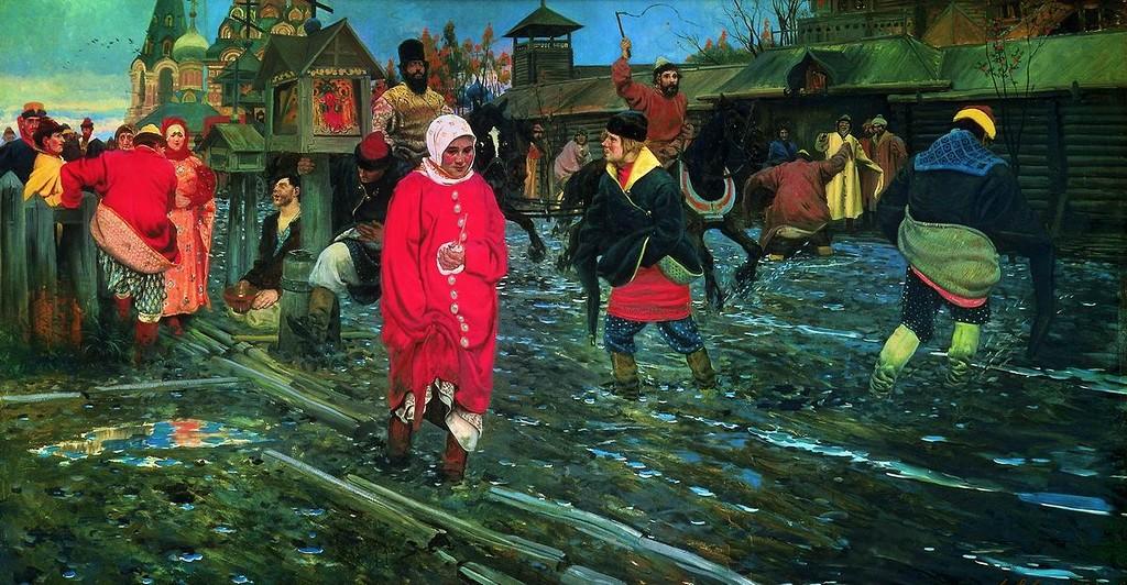 Московская улица XVII века в праздничный день. 1895.jpg