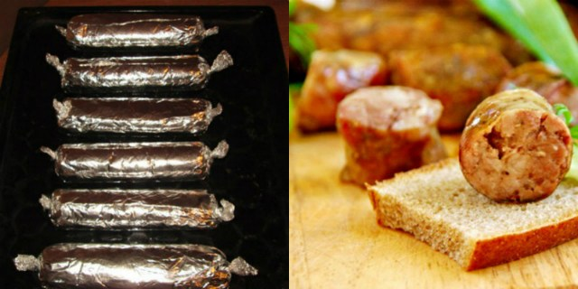 Домашние колбаски без кишок из свинины в фольге! Для тех, кто не любит возиться.