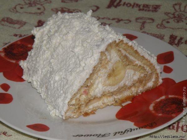 Творожный пирог-Рулет без выпечки