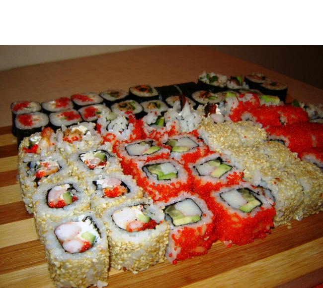 Как сделать самой суши