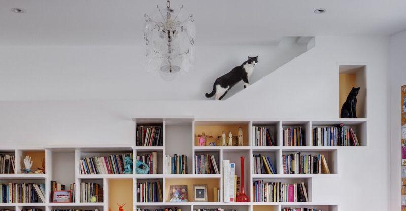 Кошкин дом - оригинальный интерьер дома, который идеально подходит для котовладельцев!