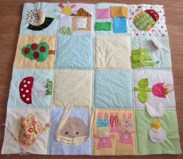 Объемный коврик для ребенка своими руками
