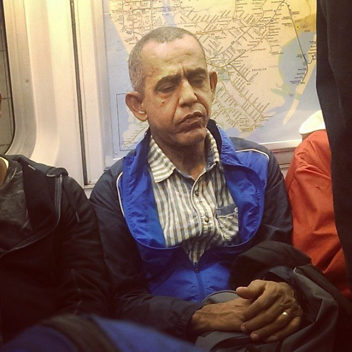 I Traveled 20 Years Into The Future And Found President Obama On The Nyc Subway