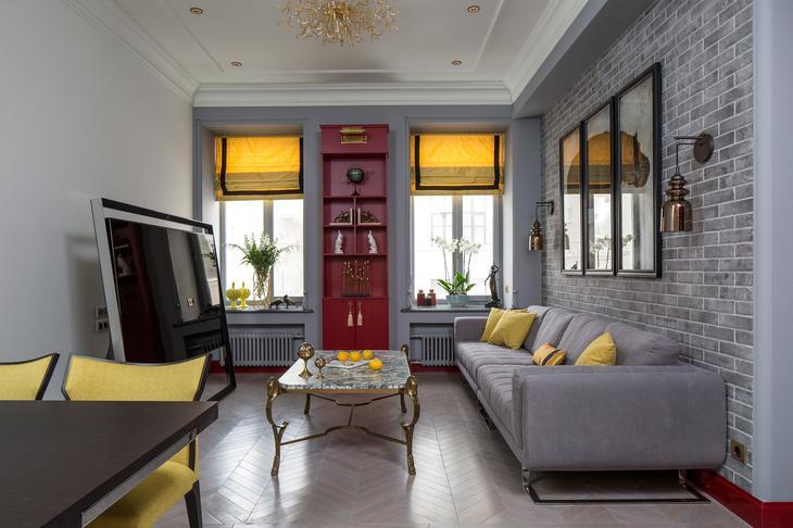 Ироничная квартира в Москве, 90 м²