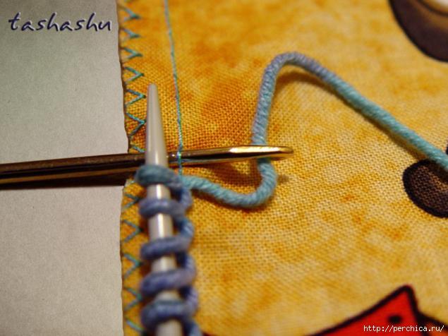 В помощь вязальщицам… Как набрать петли на ткани для обвязки крючком