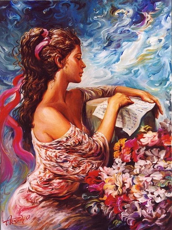 Женщина – прекрасная картина... Художник Аркадий Острицкий